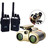 HALO NATION Walkie Talkie & Night Vision Binoculars for Kids, Binoculars Night Scope