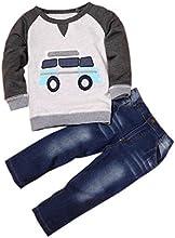 Covermason Niños Coche Impresión Camiseta Tops y Largo Pantalones (1 conjunto)