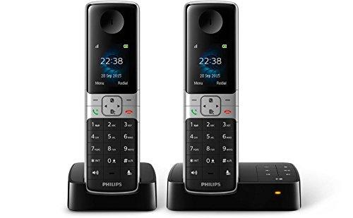 Philips D6352B/38 DECT Identificador de llamadas Negro - Teléfono (DECT, Escritorio, Negro, 100 - 240, 50/60, TFT)