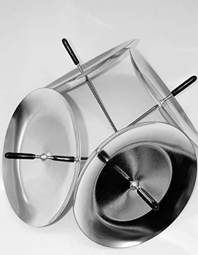 Modern 20 Stück Silber Adventskranz kerzenhalter Kerzenhalter Kerzenstecker Kerzenteller in Silber mit Dorn
