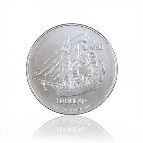 Preisvergleich Produktbild 1 oz Münze Cook Islands 2013 Unze 999 Silber Silver Silbermünze Anlagemünze Segelschiff Bounty