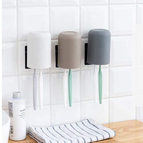Gaddrt Zahnbürstenhalter für Kinder Zahnbürste-Lagerregal Neues Hängendes Badezimmer-Küchengerät-Kasten Bad (White) (Holz Hängende Kästen)