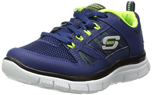 Skechers Flex Advantage, Boys' Indoor Court Shoes, Blue (Navy/Yellow), 4 UK