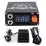 ZHHTT Tattoo Maschine Power LCD Display Power Tattoo Power Kit, flaches Pedal, Aluminium Tattoo Power Regler (Color : Blue, Size : 110 * 95 * 40mm)