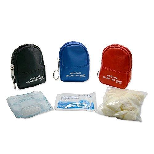 konmed 20PCS/Pack HLW Mini Erste Hilfe-Kits mit Cpr Maske Schützen Handschuhe und Tupfer für Erste Hilfe in Not
