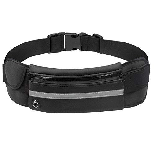 Yuikled Bolsa de Cintura de Teléfono Antirrobo Impermeable con Orificio para Auriculares para correr al aire libre Riñoneras