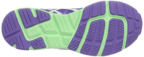 Asics Gel-Zaraca 4 Gs, Scarpe da Corsa Unisex – Bambini Multicolore (Iris White/Patine Green)