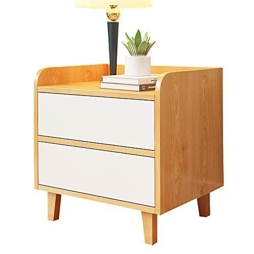 CL- Nachttisch, Schlafzimmer Presse und Rebound doppel schublade Holz Farbe Nacht stauraum, geeignet für: Wohnzimmer/Schlafzimmer/arbeitszimmer, 50x40x50 cm Nachttisch -