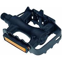 Point 09006100 - Pedali per mountain-bike/ciclocross, in plastica e acciaio, colore: Nero