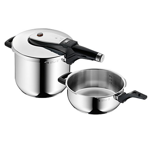 WMF Pentola a pressione Perfect Ultra Set, Acciaio INOX, 22 centimeters