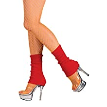 Boland 1751 Leg Warmers Adult, Red, One Size