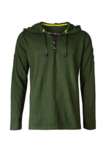 Musterbrand Zelda Strick Pullover Herren Link Cape Unisex Hoodie Sweatshirt mit Kapuze Grün XL (Link Hoodie)