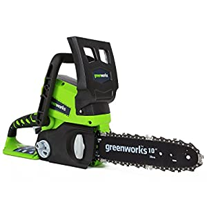 Greenworks Tools Battery Chainsaw G24CS25 (Li-Ion 24V 4 m/s Chain speed 25 cm Sword Length 50 ml Oil Tank Volume Without Battery and Charger)