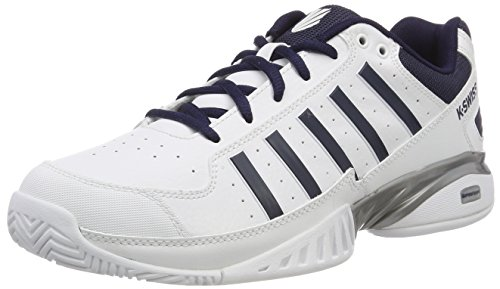K-Swiss Performance Receiver IV, Scarpe da Tennis Uomo, Bianco (White/Navy 37) 44 EU