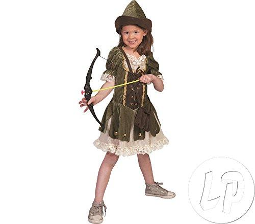 Robin Hood Mädchen Kostüm Gr. 140 - Tolle Verkleidung für Fasching Film Party und Theater
