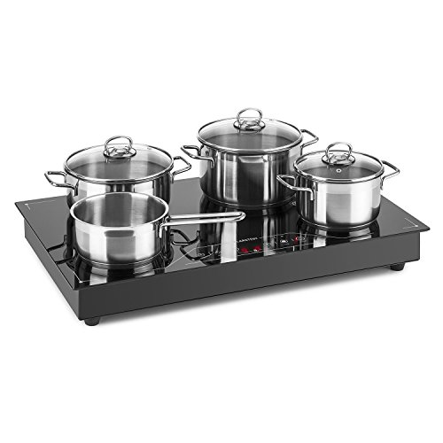 Klarstein Deejay Free Zone Induction Hob • 3500 W • Glass • Ceramic • Touch • Free Cooling Zone for Free Placement of Cookware • Use as a Built-In Unit or Free Standing • Flexible in the Kitchen Line • Elegant Look • Black