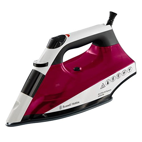 Russell Hobbs Auto Steam Pro Non-Stick Iron 22520, 2400 W - White and Red Best Price and Cheapest