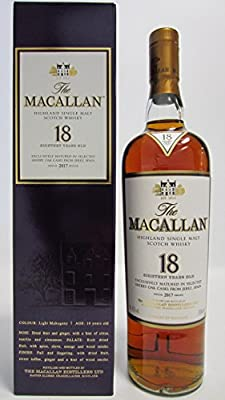 Macallan - Light Maghony Sherry Oak 2017 Annual Release - 18 year old Whisky