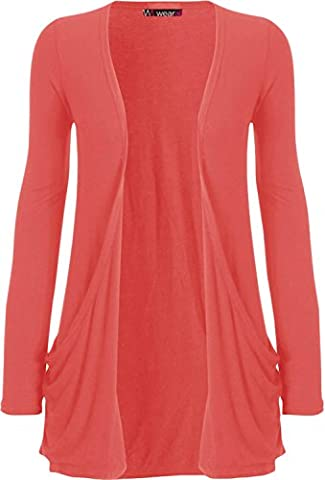 WearAll - Cardigan à manches longues - Corail - 48-50