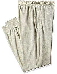 Hanes Men's Cotton Joggers Pants (8907378022356_MPP12-556-PL_Large_Ecru Melange)