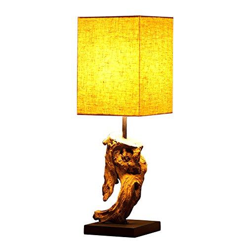 Design Treibholz Lampe HYPNOTIC beige Tischlampe in Handarbeit -