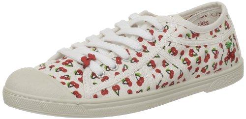 Le Temps des Cerises - Sneaker, Donna, Bianco (Blanc (Cherry Print)), 40
