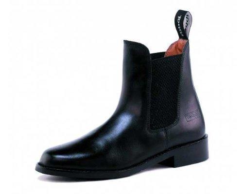 Toggi Ottawa-Tirez sur Boots d'équitation en cuir de qualité Noir Taille : 9