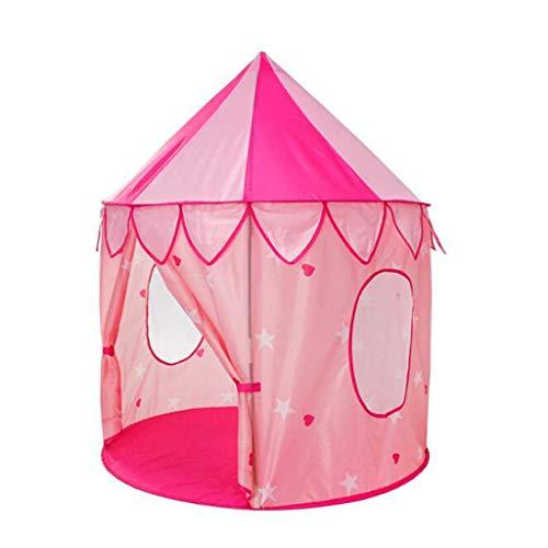 ZYY-Baby Playpens Laufgitter Kinder Innen Prinzessin Schloss Spielhaus Zelt (Rosa/Packtaschen/Convenience Store Tragen)