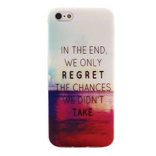 MOONCASE Etui pour iPhone 5G / 5S Gel TPU Silicone Case Cover Housse Coque Étui Mi03 Mi06 #1122