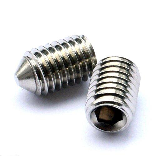 3 mm Madenschrauben Kegelkuppe (, 10 Stück) M Stecknuss 3 x 5 mm A2 Edelstahl Gewindestift/Schrauben Nyloneinsatz