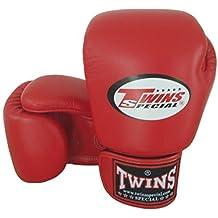 8-10-12-14-16 angelsharkseries. Rojo Twins Special Muay Thai guantes de boxeo de piel (BGVL-3), color , tamaño XL (14oz.)