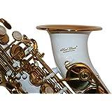 KARL vitrier Saxophone Soprano, courbé, blanc/or, avec étui