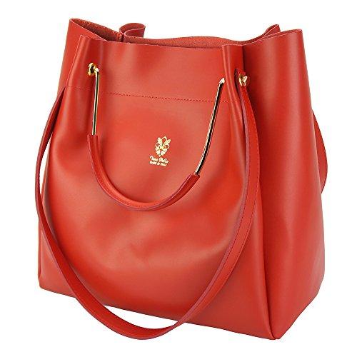 Borsa Eleonora - 8051 - Borse in pelle - borse da donna Rosso chiaro
