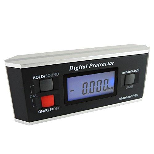 Winkelsucher Ebene Protractor Inclinometer Magnetic V-Groove 0 ~ 360 Grad mit Hintergrundbeleuchtung