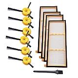 Vamoro Staubsaugeraufsatz Zubehör-Sets Waschsauger-Zubehör Ersatz-Seitenbürstenfilter für Shark ION RV700 RV720 RV750 RV750C RV755 Neu 4 Filter,6 Seitenbürste,1 Reinigungsbürste