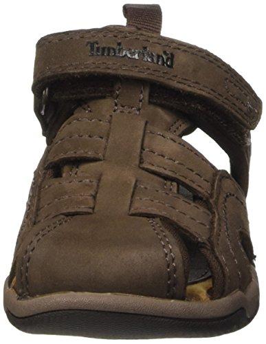Timberland Active Casual Sandal_Oak Bluffs Leather Fisher, Sandales Bout Fermé Mixte Enfant Marron (Dark Brown)
