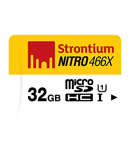Strontium 32 GB Nitro 466X UHS-1 microSDHC Memory Card  available at amazon for Rs.1666