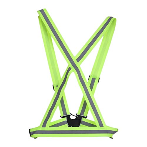 CHANNIKO-DE Breathable Traffic Night Work Security Running Cycling Safety Reflective Vest High Visibility Reflective Safety Jacket 2 Traffic Safety Vest