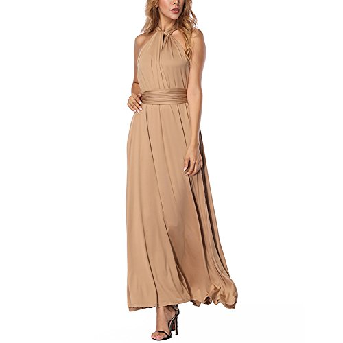 Damen Maxi Abendkleider Lang Cabrio Multi-Way Party Cocktailkleid Brautjungfer Kleider