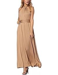 Lover-Beauty Vestido Largo Mujer para Noche y Fiesta Casual Algodón Ropa  Top Falda Espalada afafdd2a7597