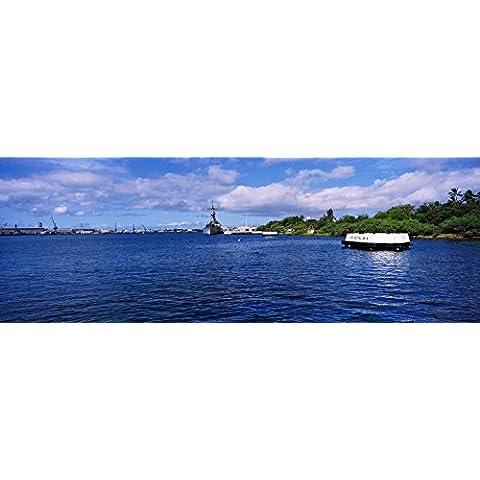 Panoramic Images – Battleship Missouri Memorial Pearl Harbor Oahu Hawaii USA Photo Print (68,58 x 22,86
