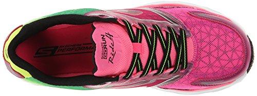 Skechers Go Run Ride 4, Chaussures de running femme Rose (Hplm)