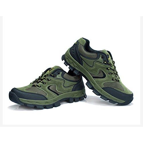 CHT Automne Et D'hiver Amateurs De Plein Air De Randonnée Alpinisme Chaussures Hommes Taille Multi-codes Rouge Vert Brun Gris En Option green-Men-43