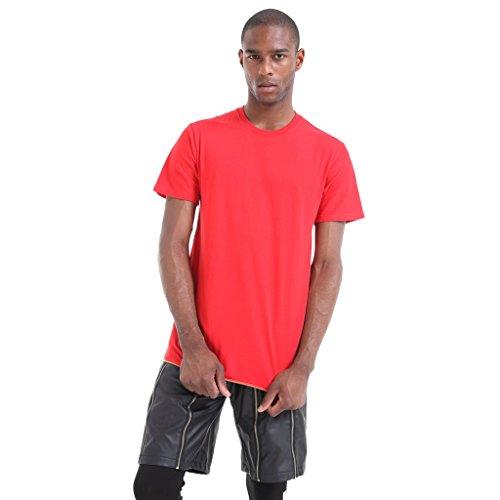 pizoff-t-shirt-avec-fermeture-eclair-laterale-hip-hop-unisexe-rouge-x-large