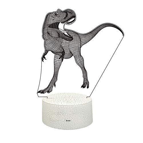 Dicomi 5V LED Nachtlicht 7 Farben Dinosaurier