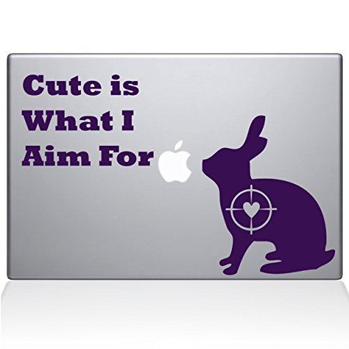 Die Aufkleber Guru Cute Kaninchen Jagd MacBook Aufkleber Vinyl Aufkleber–38,1cm MacBook Pro (2016& neuere)–Lavendel (1247-mac-15X - Lavendel Kaninchen