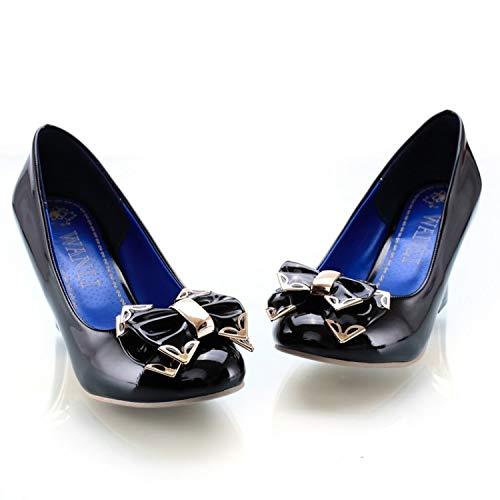MENGLTX High Heels Sandalen Hochzeitsschuhe Big Size High Heels Schuhe Damen Pumps Damen Talon Zapatos Tacones 4 Schwarz
