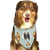 deyhfef Australian Shepherd Pizza Funny Cute Pet Dog Bandanas Triangle Bib Scarf Accessories for Dogs, Cats, Pets Animals