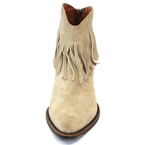 Lucky marchio basso-tallone frangia colore cowboy stivali, taglia 3, da £114 Viola (Cincillà)