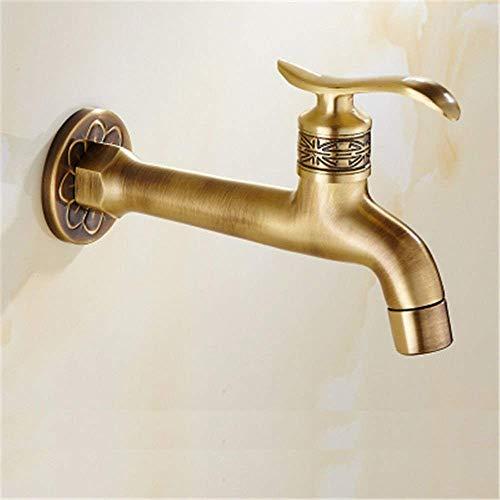 HYY-YY Waschtischarmatur für Waschbecken, Messing, Waschmaschine, Pool, Kaltwasserdüse, für Badezimmer, Waschbecken, Wasserhahn